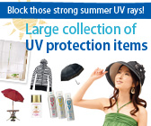 Large collection of UV protection items
